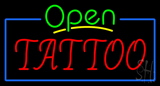 Green Open Red Tattoo Blue Border Neon Sign