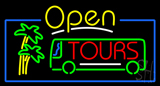 Open Tours Neon Sign