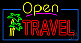Open Travel LED Neon Sign
