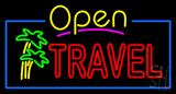 Open Travel Neon Sign