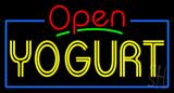Red Open Double Stroke Yogurt Neon Sign