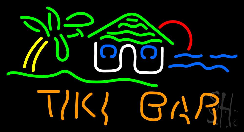 Tiki Bar Hut Neon Sign | Tiki Bar Neon Signs - Every Thing