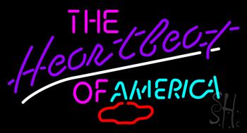 The Heartbeat of America Neon Sign