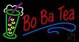Bo Ba Tea with Glass Neon Sign