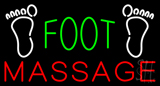 Green Foot Massage with Logo Neon Sign