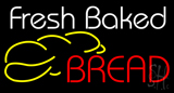 White Fresh Baked Bread Neon Sign