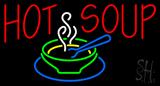 Hot Soup Logo Neon Sign