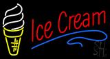 Red Ice Cream Logo Neon Sign