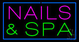 Pink Nails and Spa Green Neon Sign