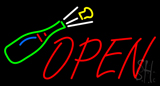 Champagne Bottle Open Neon Sign