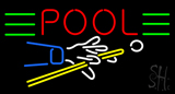Pool Neon Sign with Pool Logo