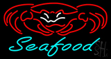 Seafood Crab Logo Neon Sign