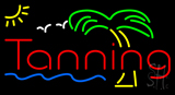 Red Tanning Palm Tree Neon Sign