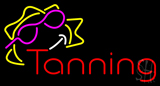 Red Tanning with Sun Logo Neon Sign