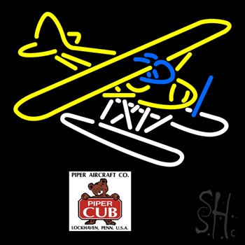 Piper Cub Float Plane Customizable Look Neon Sign