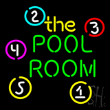 The Green Pool Room Neon Sign