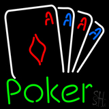 Beer Poker Cards LED Neon Sign