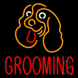 Dog Logo Grooming Block Neon Sign