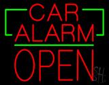 Car Alarm Block Open Green Line Neon Sign