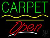 Carpet Script2 Open Yellow Line Neon Sign