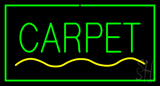 Carpet Rectangle Green Neon Sign