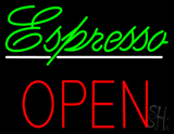 Espresso Block Open Neon Sign