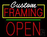 Custom Framing Open Green Line Neon Sign