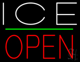 White Ice Open Neon Sign