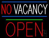 No Vacancy Block Red Open Green Line Neon Sign