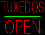 Tuxedos Block Green Line Open  Neon Sign