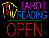 Tarot Reading Open Block Green Line LED Neon Sign