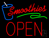Smoothies Block Open Neon Sign