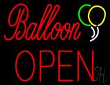 Balloon Block Open Neon Sign