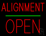 Alignment Open Block Green Line Neon Sign