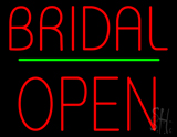 Bridal Block Open Green Line LED Neon Sign