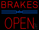 Red Brakes Open Block Neon Sign