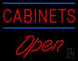 Cabinets Script1 Open Neon Sign