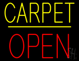 Carpet Block Open Yellow Line Neon Sign