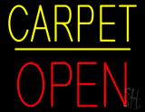 Carpet Block Open Yellow Line LED Neon Sign