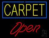 Carpet Script1 Open Neon Sign