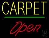 Carpet Script1 Open Green Line Neon Sign