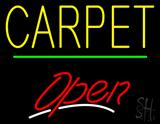 Carpet Script2 Open Green Line Neon Sign
