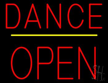 Dance Block Open Yellow Line Neon Sign