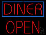 Diner Block Open Neon Sign
