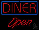 Diner Script1 Open Neon Sign
