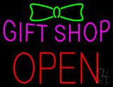 Gift Shop Block Open Neon Sign