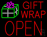 Gift Wrap Block Open Neon Sign