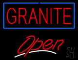 Granite Script2 Open Neon Sign