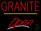 Granite Script2 Open Yellow Line Neon Sign
