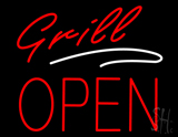 Grill Block Open Neon Sign